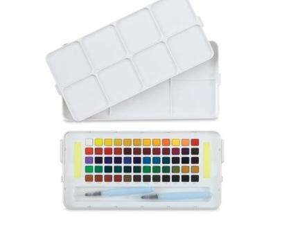 סט צבעי מים | 60 צבעים ומכחול מים | צבעים יפנים | יצירה