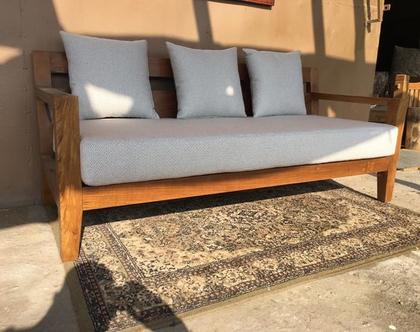 ספה עץ מלא טיק