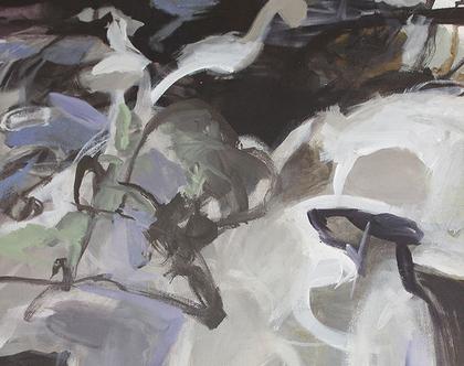 ציור אורגינלי על קנבס, אמנות מודרנית לבית, אומנות ישראלית מקורית, ציור לסלון, גווני אפור. עבודת יד