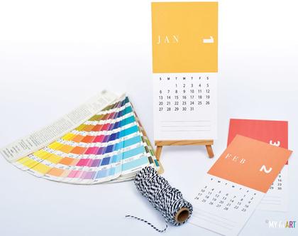 לוח שנה 2020 | בעיצוב אישי עם הקדשה | דגם צבעי פנטון