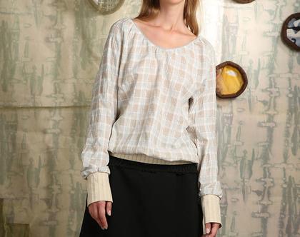 חולצת פשתן Frame Blouse