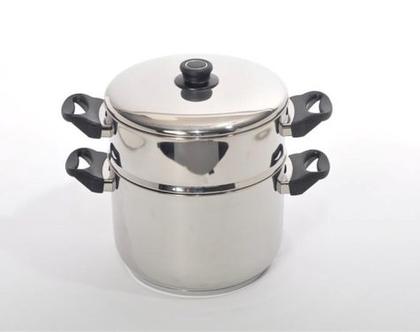 סיר קוסקוס נירוסטה | 5 7 ליטר סולתם 24 ס״מ | סירים ומחבתות | בישול ואפייה | סיר קוסקוס סולתם