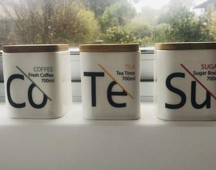 סט קפה תה סוכר | סט מזון מקרמיקה לקפה תה סוכר | סט מזון נעמן עיצוב הבית