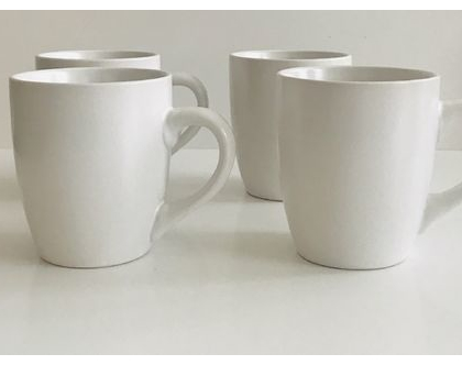 ספלים מקרמיקה לבנה אוף וויט | ספלים לקפה | מאגים לקפה שתייה חמה | כלי למטבח