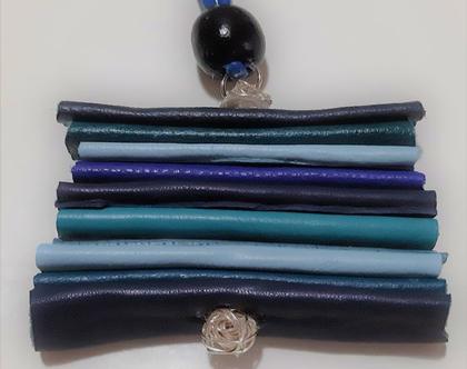 שרשרת בגווני כחול, שרשרת בגווני טורקיז, שרשרת ארוכה כחולה, שרשרת מיוחדת.
