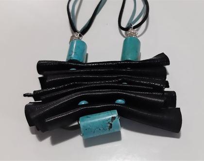 שרשרת טורקיז, שרשרת שחורה, אבן טורקיז, שרשרת מתנה, מתנה לאישה, מתנה מיוחדת.