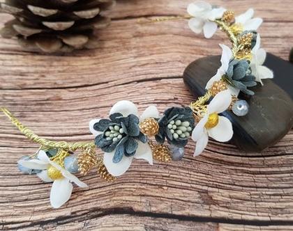 פרחים לשיער, קשת פרחים לשיער , פרחים בעבודת יד