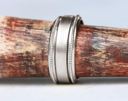 טבעת נישואין זהב לבן, טבעת נישואין רחבה, טבעת נישואין קלאסית, טבעת זהב כדורים, טבעת נישואין עבה, טבעת נישואין לאישה, סט טבעות זהב
