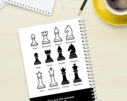 מחברת כריכה קשה - שחמט