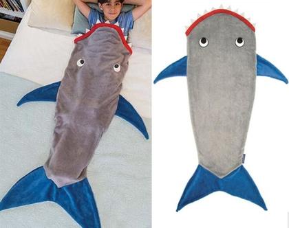 שמיכת כריש מעוצבת לילדים