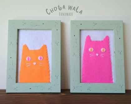 תמונות חתולים תפורות בעבודת יד