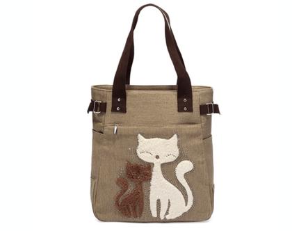 תיק בד איכותי loving cats | תיק בד הדפסי חתולים