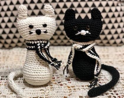 בובת חתול סרוגה
