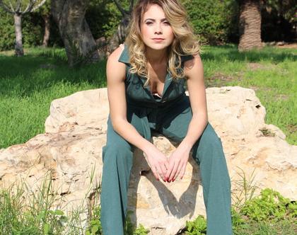 אוברול ירוק חליפת נשים