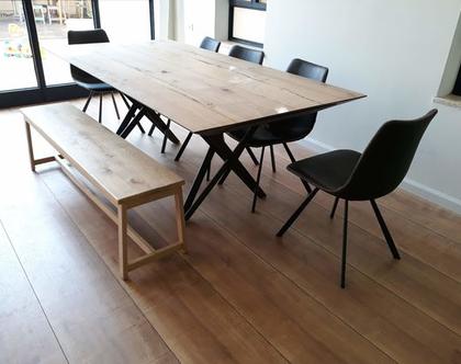 ספסל/שולחן A מעץ אלון | ספסל לפינת אוכל | ספסל לאמבטיה | ספסל לחדר שינה | ספסל פסנתר