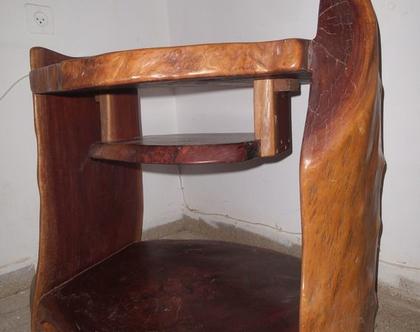 רהיט עץ טבעי שידה לטלויזיה
