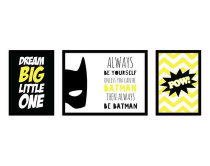 תמונות באטמן לחדר ילדים | תמונות לחדר בן | הדפסים לחדרי ילדים | תמונות לחדר ילד | תמונות לחדר בנים