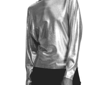 Ralph Lauren | סוודר דק כסוף ראלף לורן