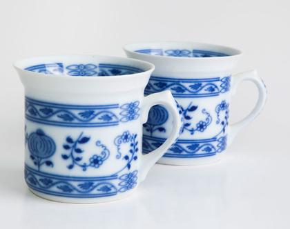 ספל פורצלן צ'כי, דגם הבצל הכחול