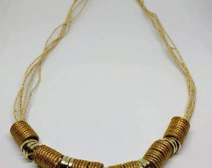 שרשרת קצרה צינורות זהב
