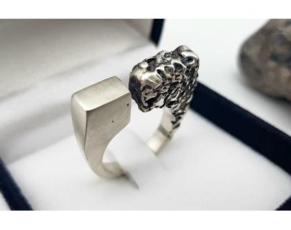 טבעת כסף 925 מעוצבת