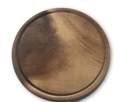 מגש עץ עגול 30 ס״מ | מגש עץ לפיצה | מגש לפיצה | כלי מטבח | בישול ואפייה | כלי הגשה מיוחדים