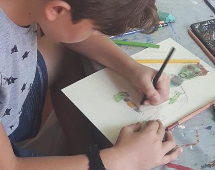 חוג ציור - לצייר בכייף ,מתוך חוויה וללא צורך בידע קודם