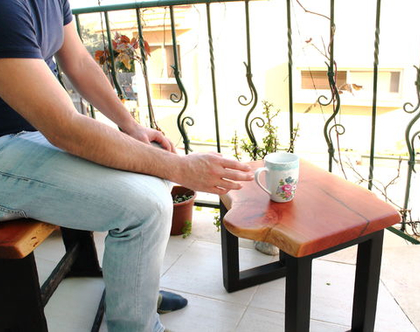 שולחן קפה אקליפטוס