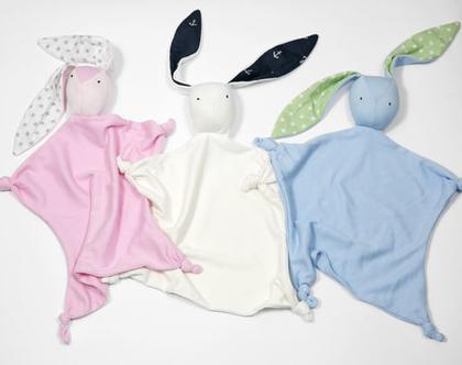 בובת שמיכי-חיבוקי לתינוק, בובה רכה לתינוק, מתנה ללידה, מתנה ליולדת, חפץ מעבר לילד