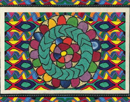 פלייסמט אומנות אתיופית, פלייסמט מעוצב לשולחן אוכל, פלייסמט עמיד, מתנה לחג, מתנה לבית