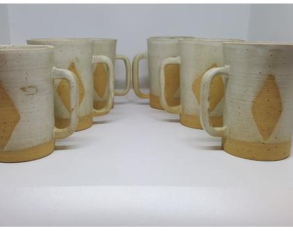סט ספלים מקרמיקה, ספלים מקרמיקה, סט כוסות קפה, כוס קפה, כוסות מקרמיקה