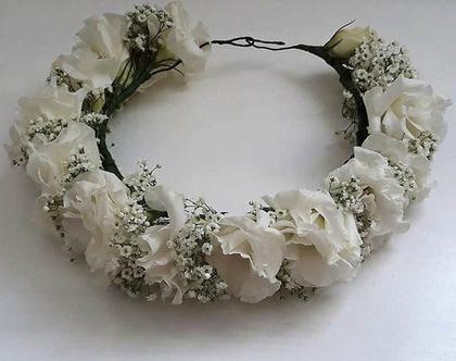 זר לראש מפרחים טבעיים