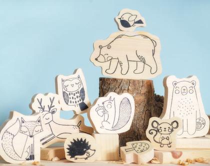 חיות משחק מעץ - חיות יער