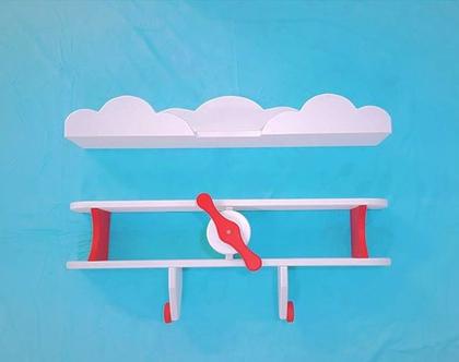 סט מדפי אווירון ועננים דגם 'אלון'