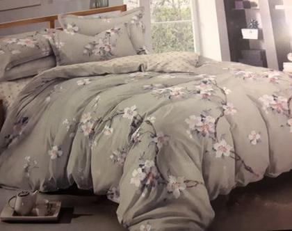 מבצע סט מצעים איכותי למיטה זוגית - דגם סיישל | סט מצעים איכותי | בד כותנה סאטן בצפיפות גבוהה
