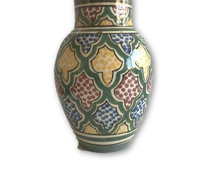 כד קרמיקה מרוקאית | קרמיקה מרוקאית| אגרטל קרמיקה קטן עבודת יד מרוקאית | קרמיקה צבעונית | ואזה צבעונית | ואזה מרוקאית