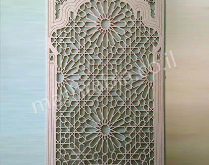 משרביה בסגנון מרוקאי, משרביה מעץ, משרביה לקיר