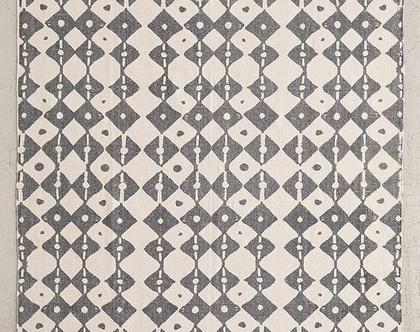 שטיח כותנה בוהו אפור