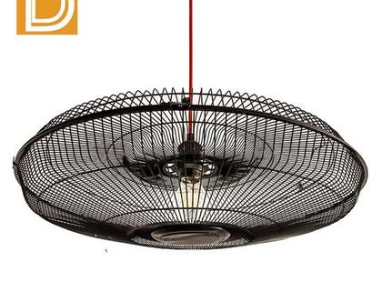 (MH001) מנורה תלויה עשויה מתכת כמו וינטלטור.אחת מסוגה.