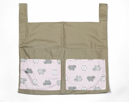 ארגונית חיתולים צבעונית למיטת תינוק , תיק אחסון לחדר התינוק, תיק חיתולים, מתנה ליולדת, מתנה לתינוק