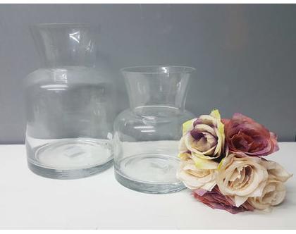 ואזה זכוכית, ואזה לפרחים, כד לפרחים, אגרטל זכוכית, מתנה לחג, וואזה כד, tks124/5