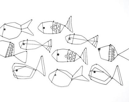 עשרה דגים - עבודת חוטי ברזל
