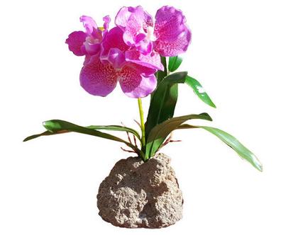 סחלב סגול,  פרח משי, פרחי משי, פרח מלאכותי, סחלב, עיצוב לשולחן, מתנה לחג, מיני סחלב דמוי אמיתי tks162