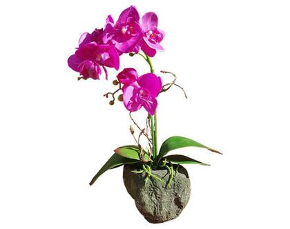 פרח משי, פרחי משי, פרח מלאכותי, סחלב, עיצוב לשולחן, מתנה לחג, tks160 סחלב סגול