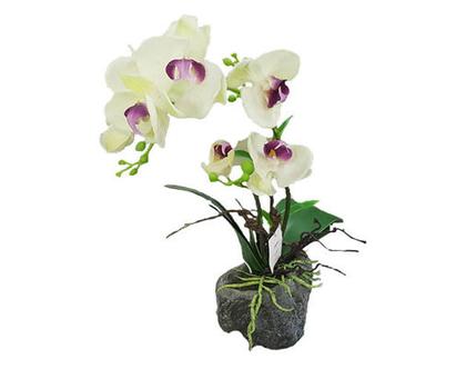 סחלב לבן, פרח משי, פרחי משי, פרח מלאכותי, סחלב, עיצוב לשולחן, מתנה לחג, tks160