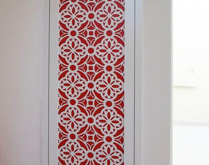 משרבייה דלת ארון חשמל דקובריק דגם מישל | דקובריק מתכת מסגרת עץ