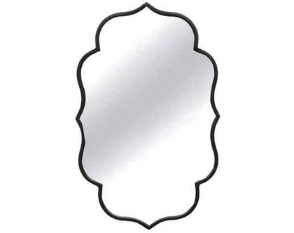 מראה סטייל ברוק ממוסגרת במתכת שחורה