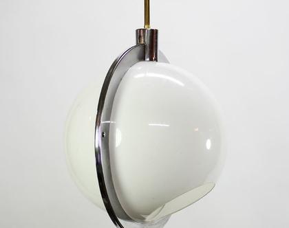 מנורת ספייס אייג׳ לבנה בטבעת כסופה