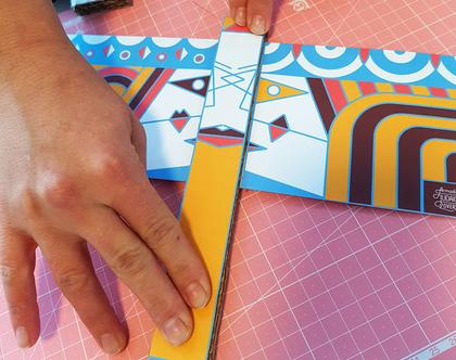 """דגל פורים - ושתי ואסתר - DIY - פעילות יצירה לפורים - ערכת הכנה דיגיטלית להדפסה (גודל הדגל - 27X21 ס""""מ)"""