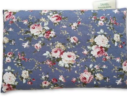 כרית חימום גדולה מכותנה איכותית הדפס וורדים של רקע סגול לבנדר - Heating pad for mircowave pure, quality cotton, roses on purple background